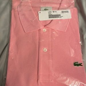 Men's Lacoste Pink Long sleeve Polo